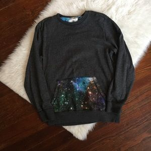 On The Byas Galaxy Crew Neck Sweatshirt Size M